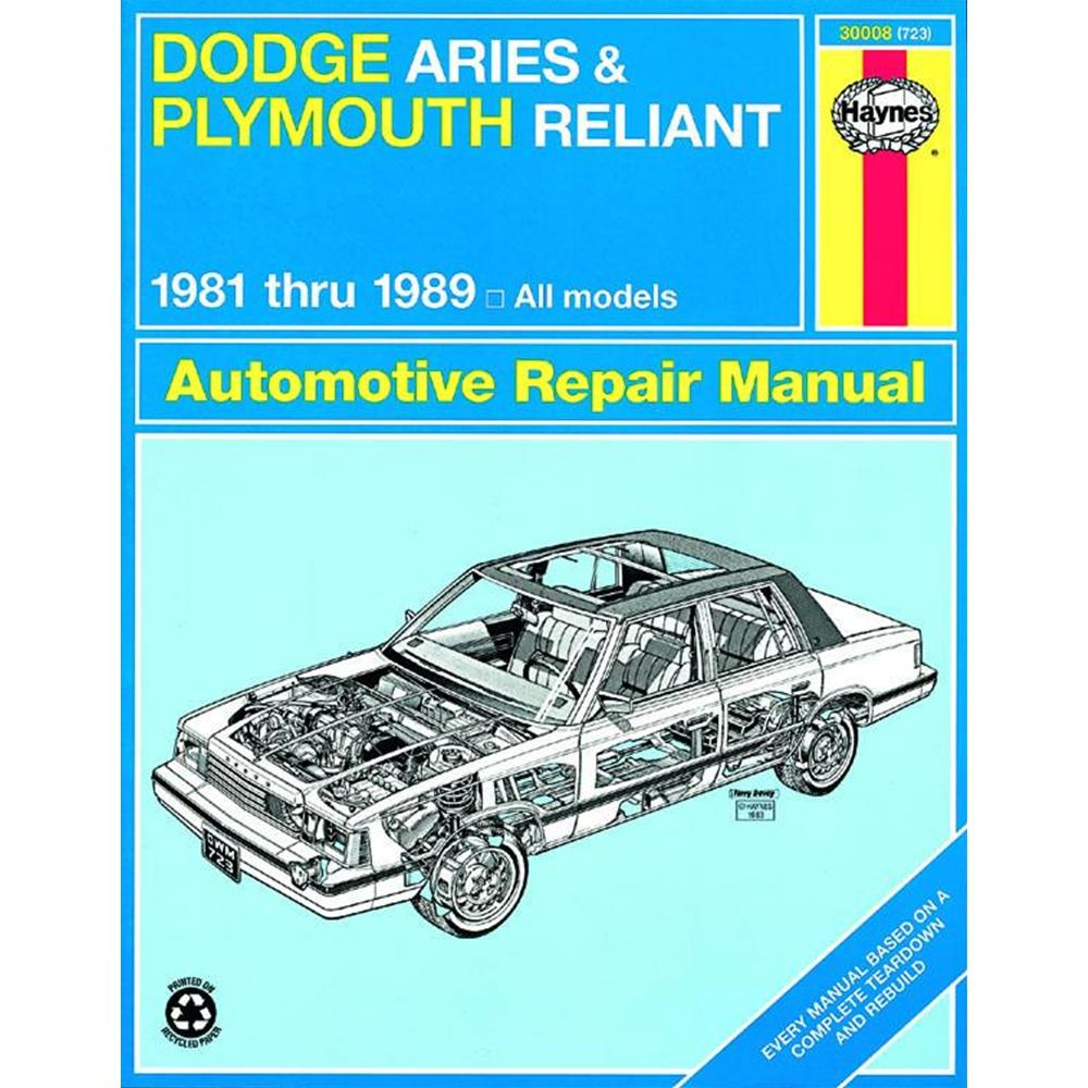 Manuale Auto, Dodge Aries, Plymouth Reliant (81-89) (USA)