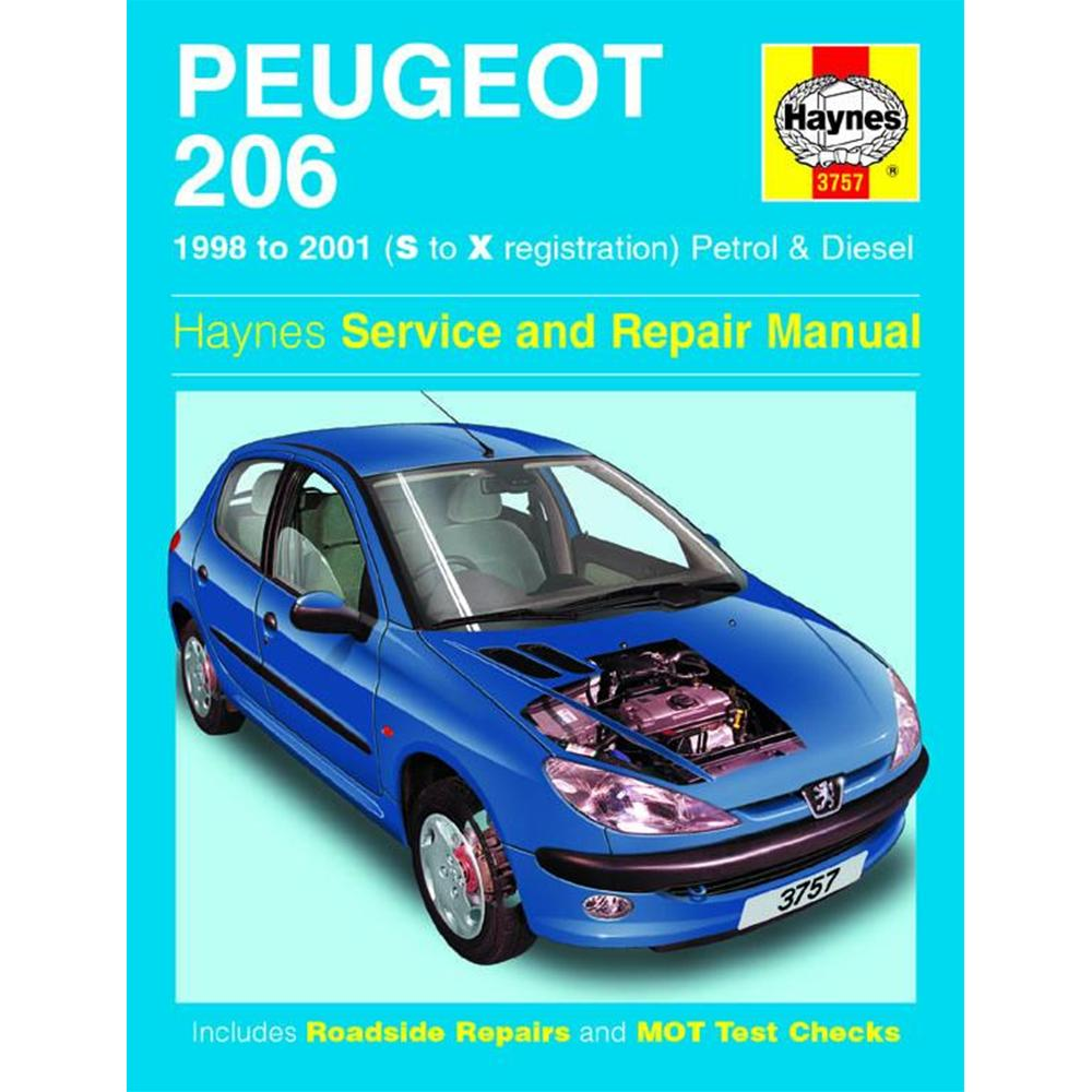 Manuale Auto, Peugeot 206 Petrol & Diesel (98-01) S to X