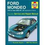Manuale Auto, Ford Mondeo Petrol (93-Sept 00) K to X