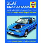 Manuale Auto, Seat Ibiza, Cordoba Petrol &Diesel (Oct 93-Oct 99) L to V