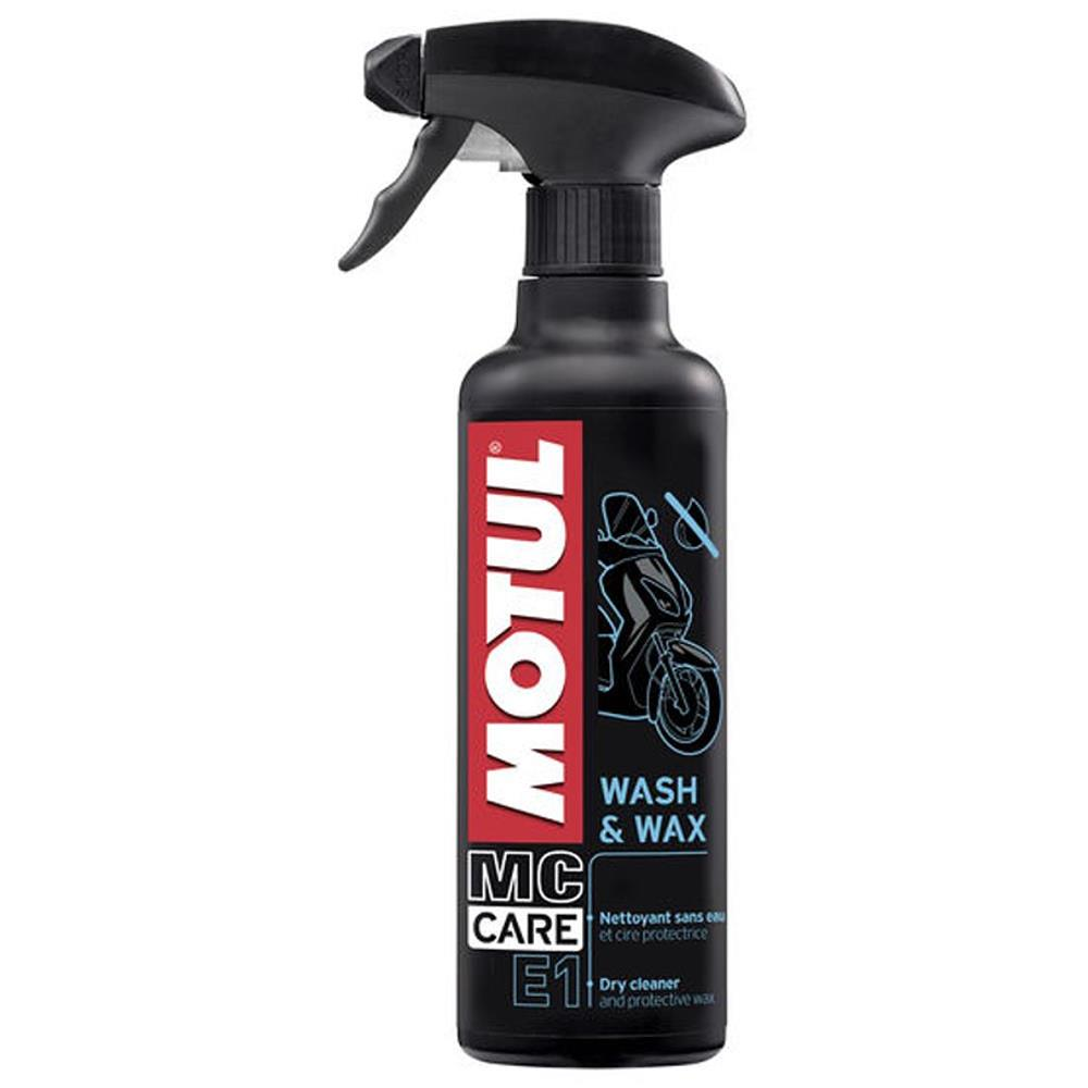 Detergente a secco e Cera protettiva Spray Motul MC Care Wash e Wax 400ml.