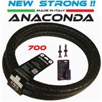 Mousse MTB Anaconda Run Flat (2pz.)+ 2 valvole tubeless carbonaria tg.( 700 32-45)