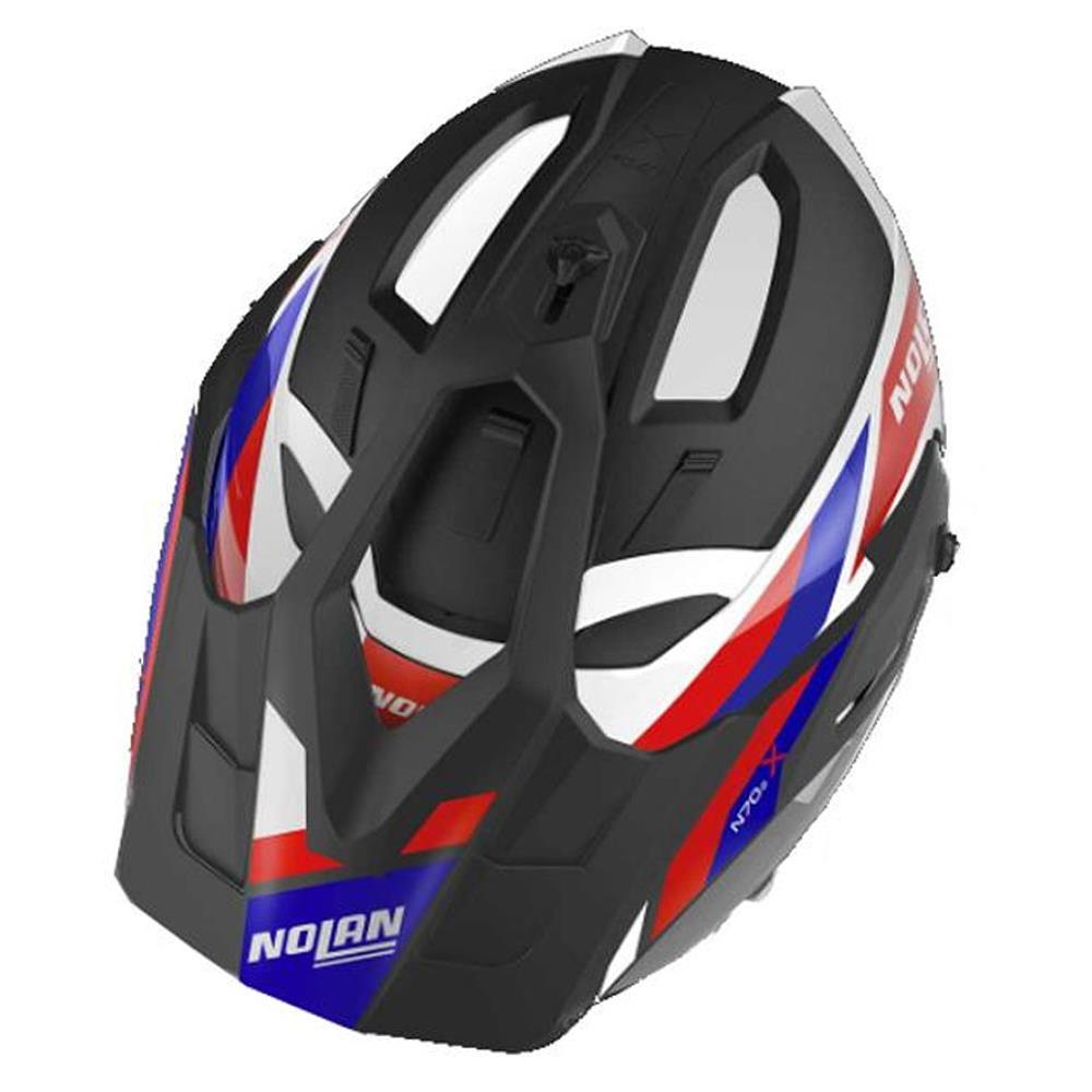 Casco Nolan N70-2X Grandes Alpes N-Com, Metal White Red Blue