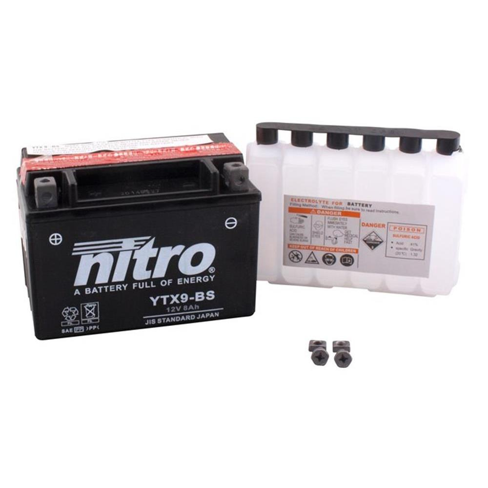 Batterie HONDA slr650 rd09 Bj 1997 Nitro ytx9-bs Gel