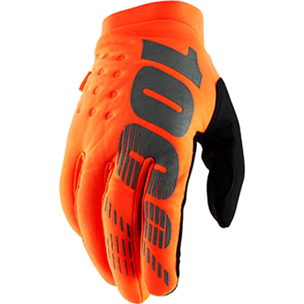Guanti MX/MTB Bambino 100% Youth Brisker Orange Fluo Black