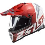 Casco LS2 MX436 Pioneer EVO Evolve Red White