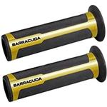 Manopole moto Ø22 aperte Barracuda Racing oro/nero