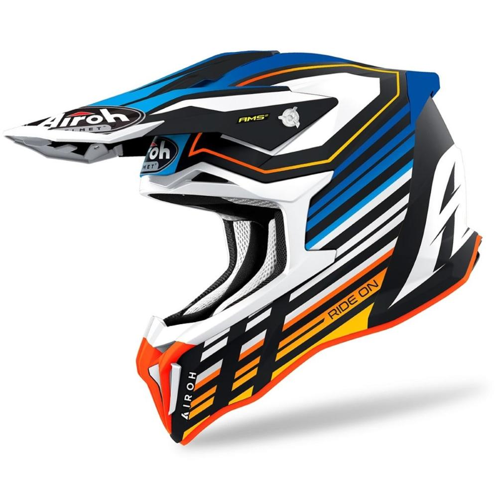 Casco Airoh Strycker Shaded 2021 Blue Matt