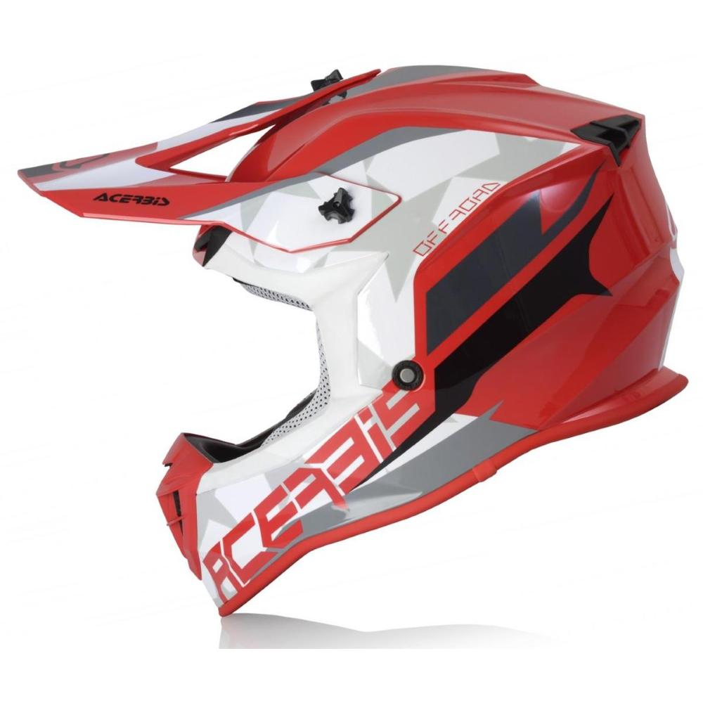 Casco Acerbis Linear red White