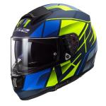 Casco LS2 FF397 Vector Kripton Matt Blue H-V Yellow