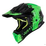 Casco Bici Just 1 J38 Mask Fluo Green Titanium Black