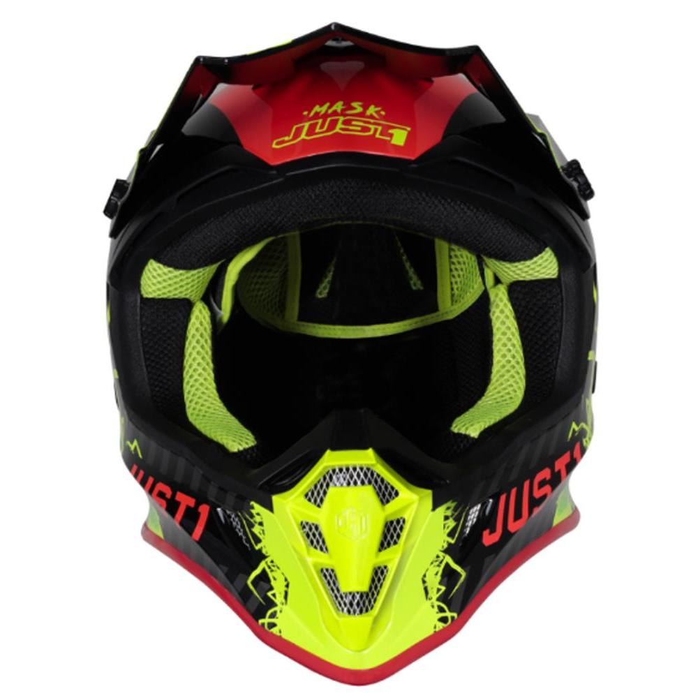Casco Bici Just 1 J38 Mask Fluo Yellow Red Black