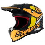 Casco Junior Swap's Nero Giallo Arancio Opaco