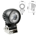 Fanale supplementare Cyclops-Round, a 1 Led - 9/32V - Luce focalizzata